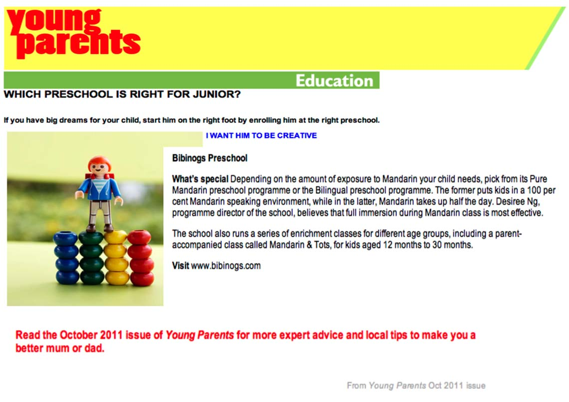 Young Parents Magazine October 2011