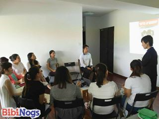 Exchange of ideas between Mei Hua Cai Yuan's teachers/leaders and Bibinogs' teachers/leaders