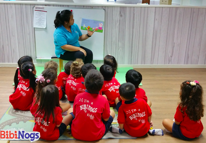 Story telling time for children at KA