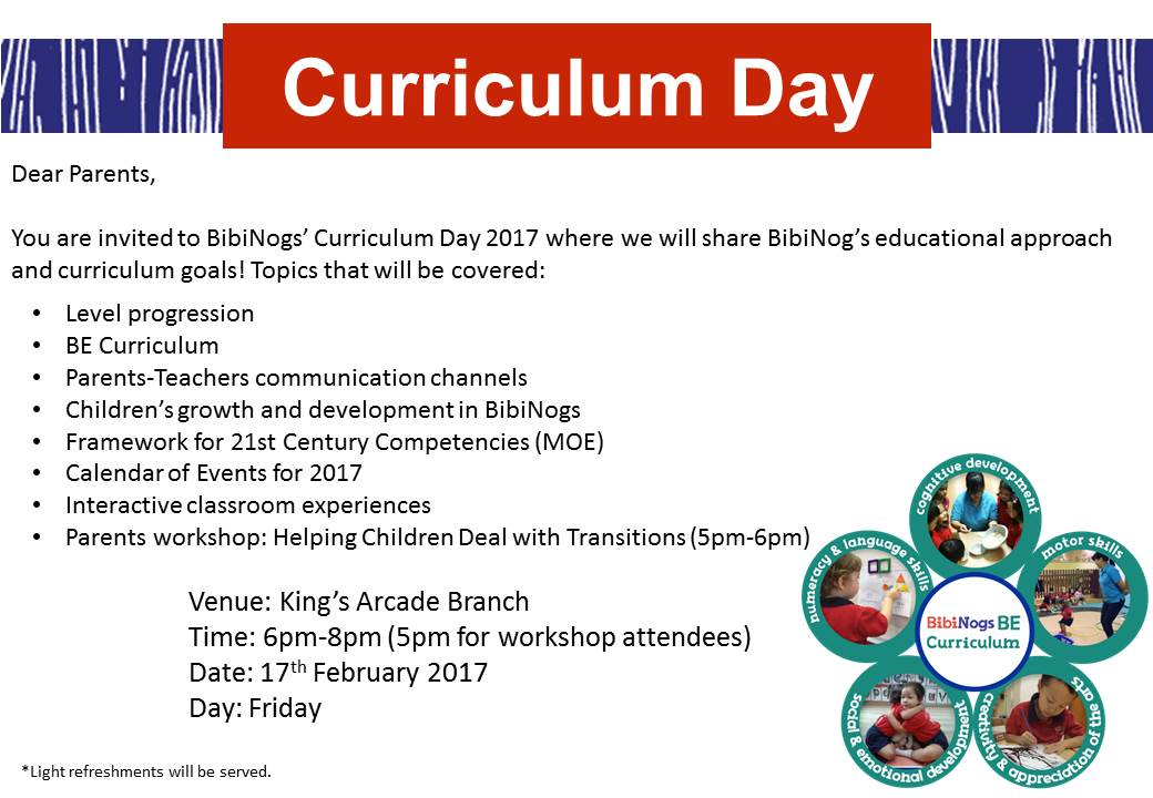 Curriculum Day Notice